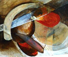 'Play II' Bitumen, Oil, Acrylic on Board 30x45cm