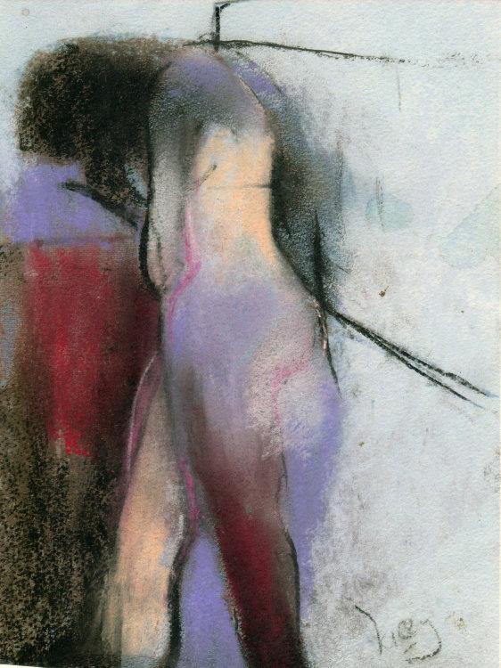 Pastel figure
