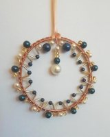 Blue and Pearl Circle £6