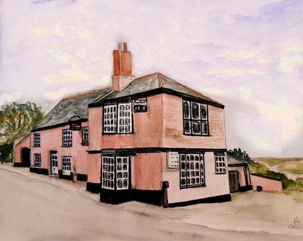 The Bridge Inn, Topsham Print