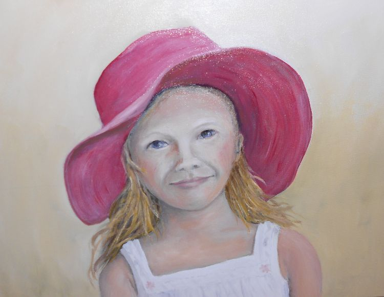 Girl In A Pink Hat £20