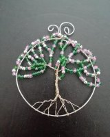 Tree of Life, Pink and Green