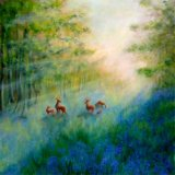"""""""Bluebell Haven"""" - 80x80 cm"""