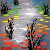 """Rainbow Pond"" - 60x81 cm"