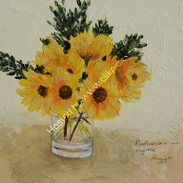 August - flower painting series