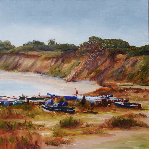 'Boats on Pakefield Beach'
