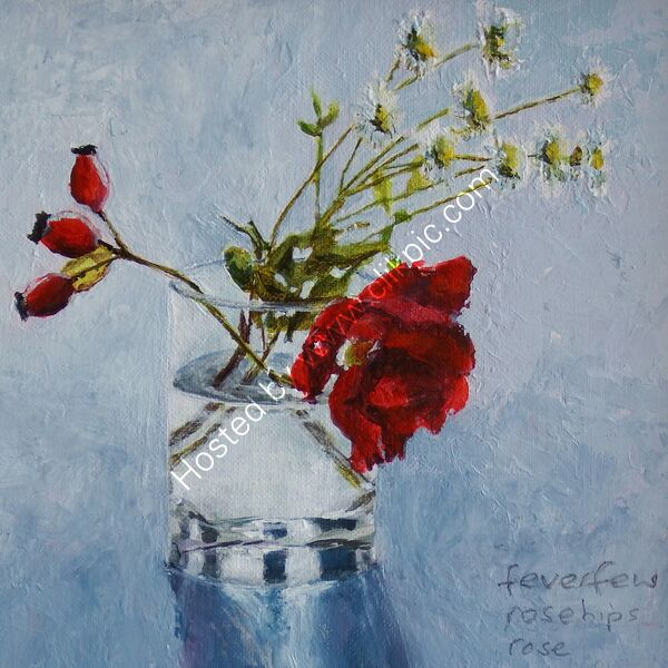 November - Flower painting series