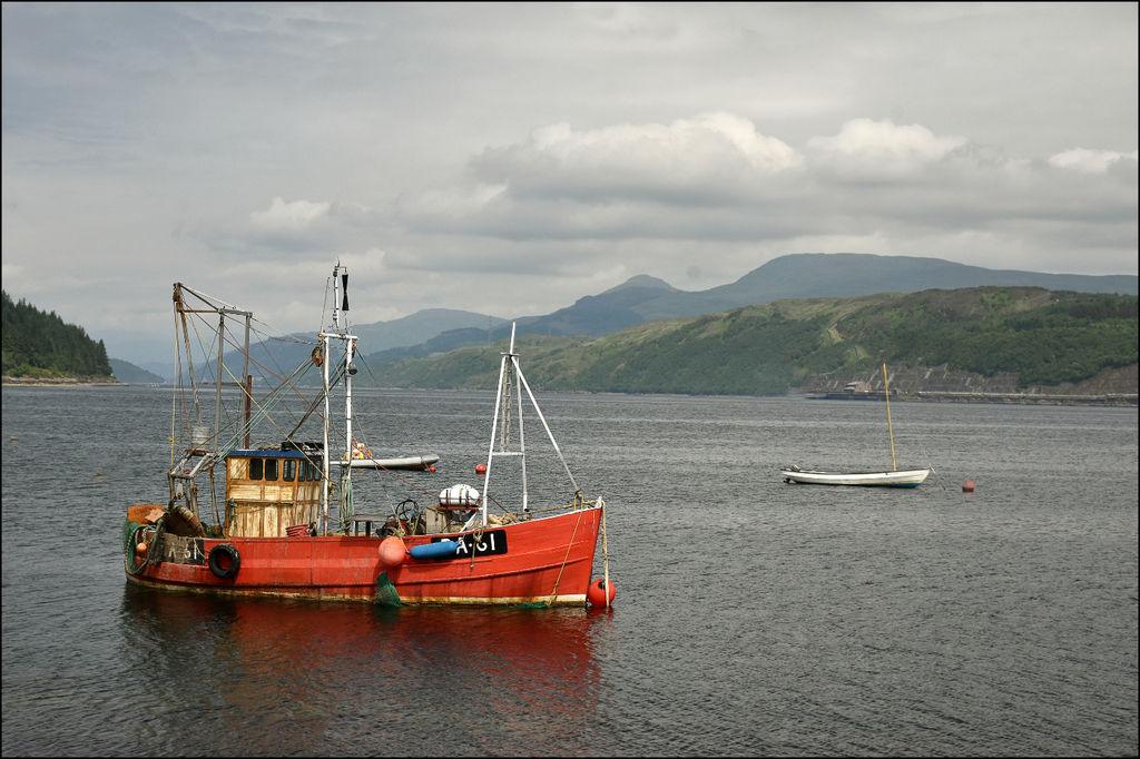 Red Boat on Loch Long