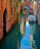 One of many colourfull canals