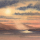 Sunrise on Loch Scridan - Mull