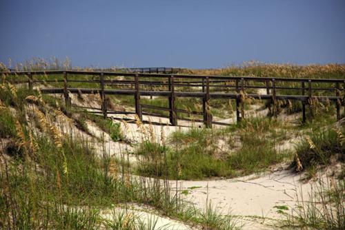 Sand dunes footbridge Tybee Island