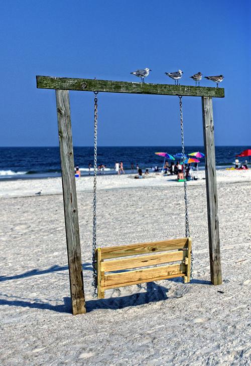 Beach bench, Tybee Island