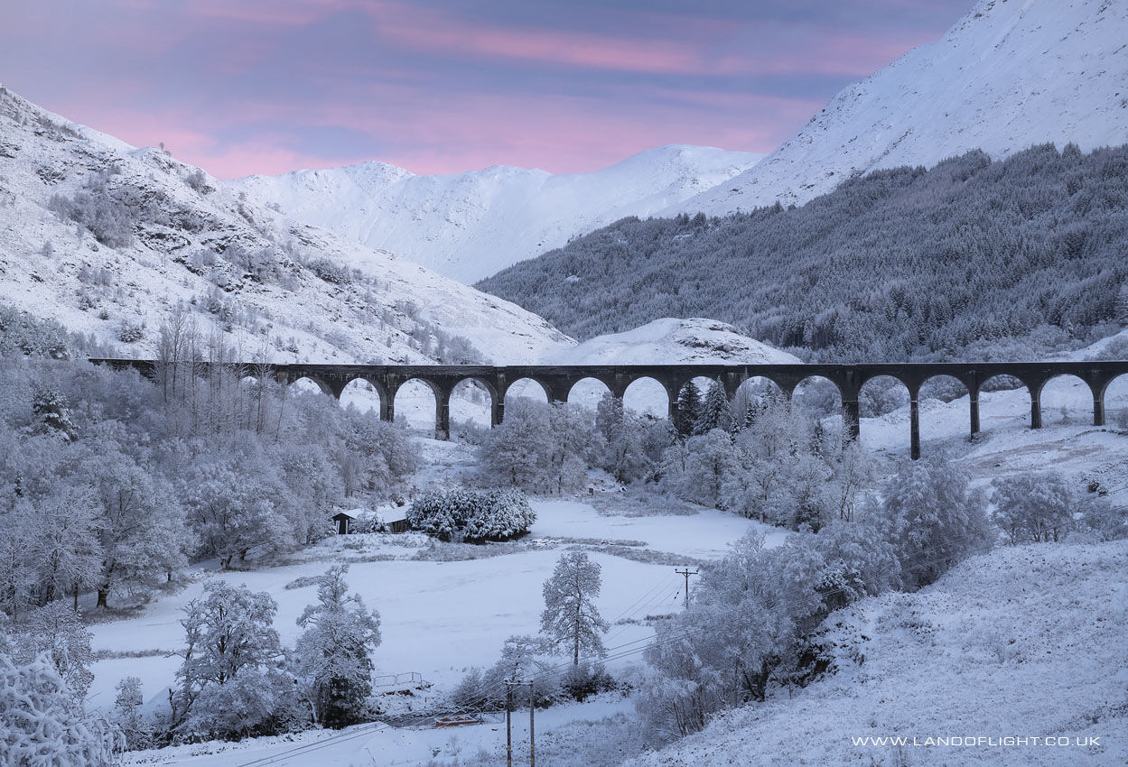 Glenfinnan viaduct at sunrise, Scotland