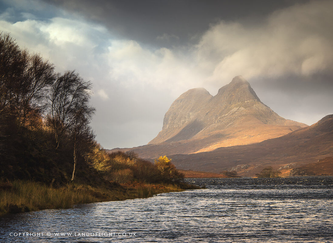 Loch Borralan & Suilven on a rainy day