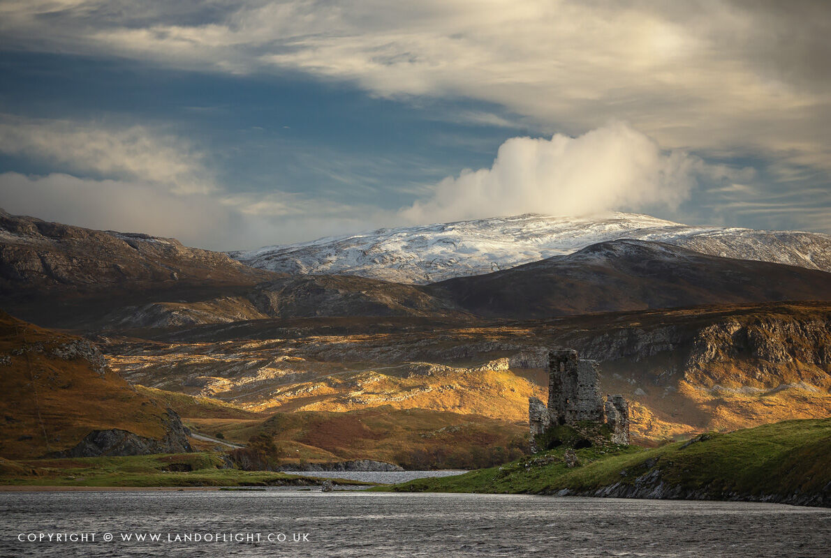 Elphin and surrounding mountains