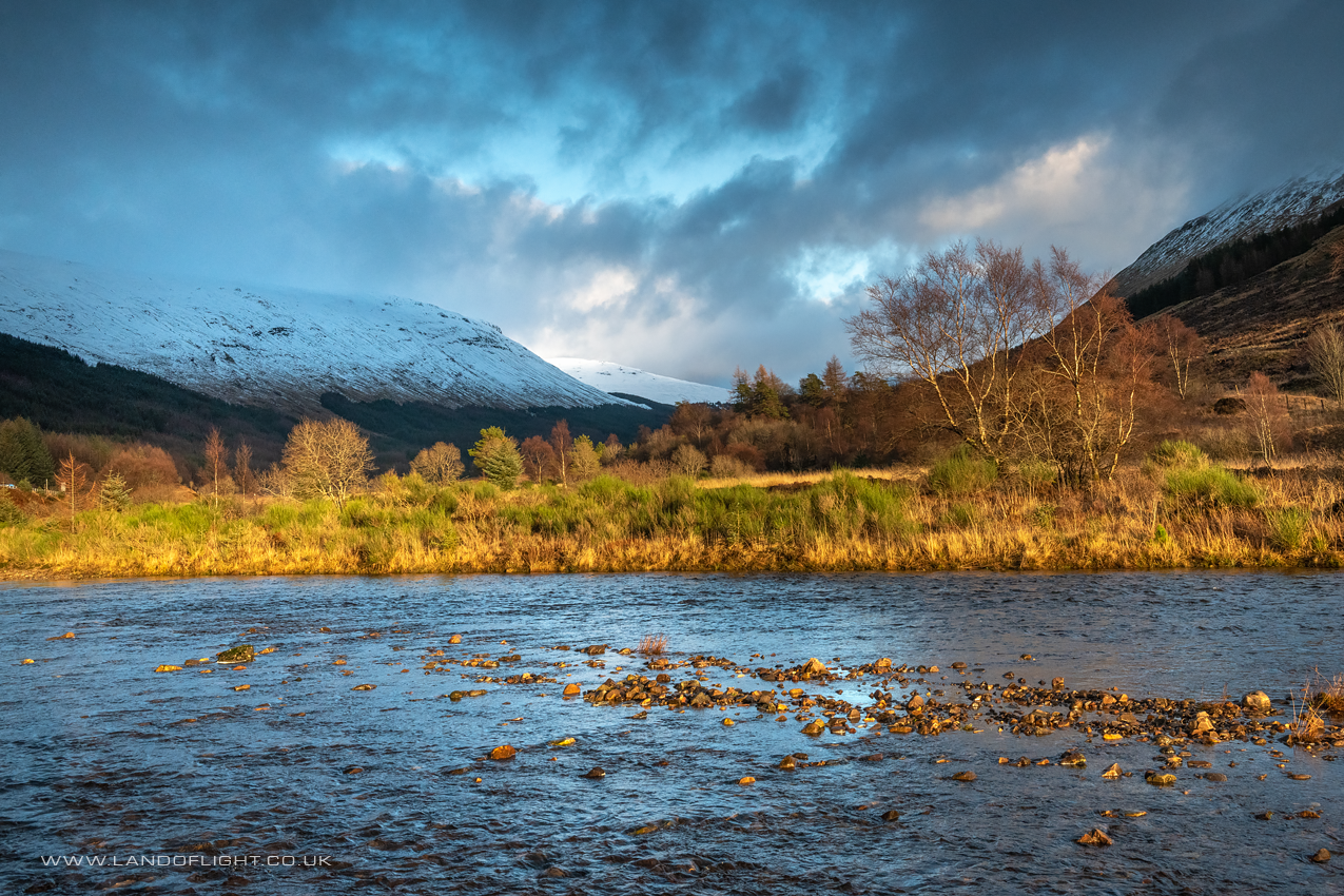 River Orchy in evening, Glen Orchy