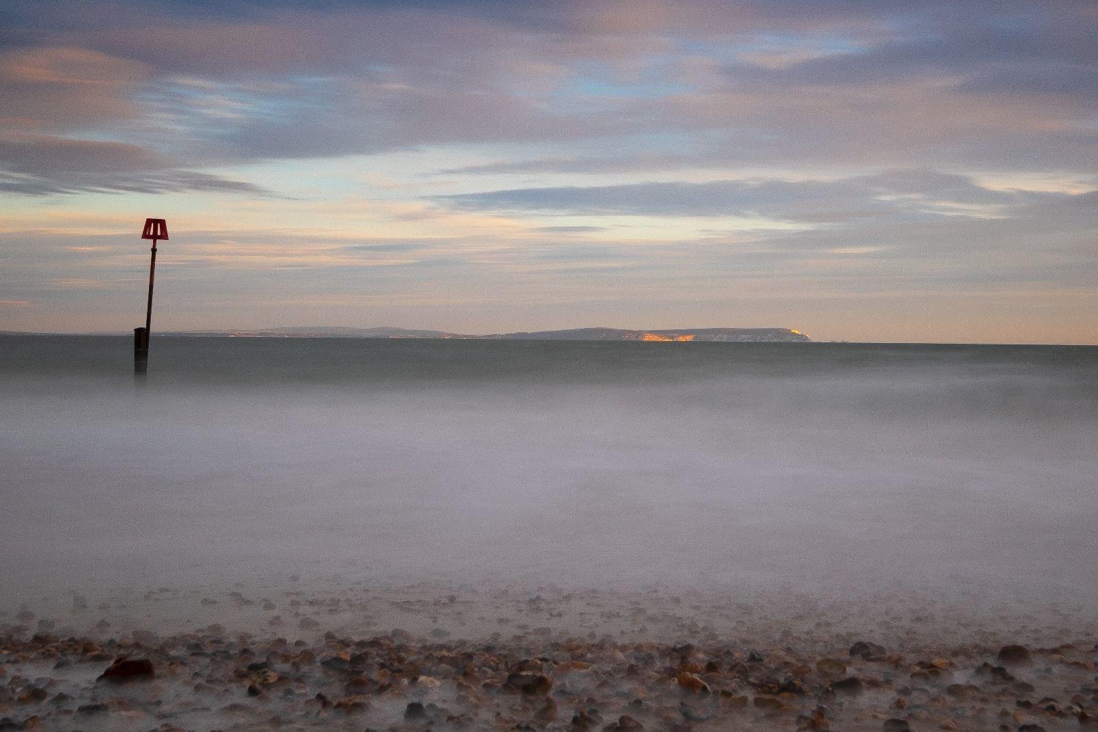 View of the Needles, Mudeford Beach, Dorset