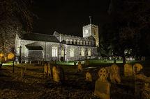 Dickleburgh church at night