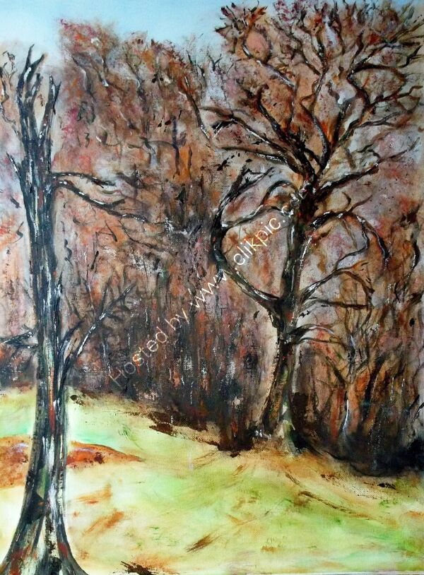 Acrylic study of trees (ancient landscapes)