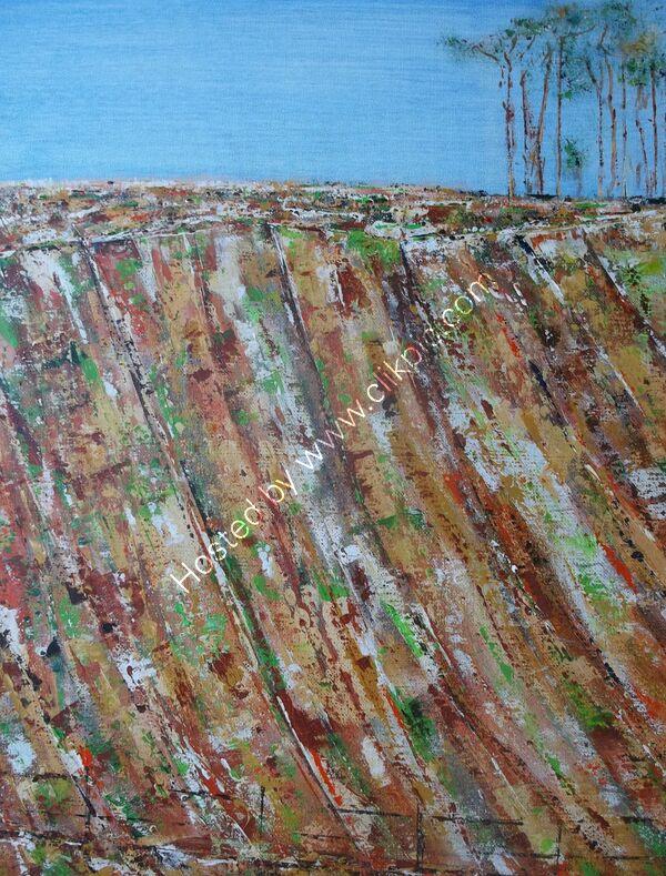 Escarpment. (Study in Texture)
