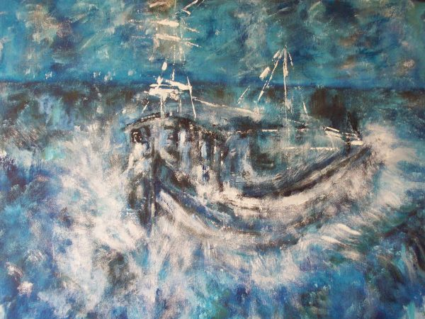 Approaching Amble Harbour   SOLD