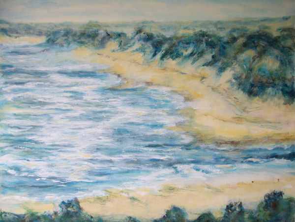 Misty day at Alnmouth   SOLD