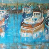 Evening at the Boatyard  SOLD