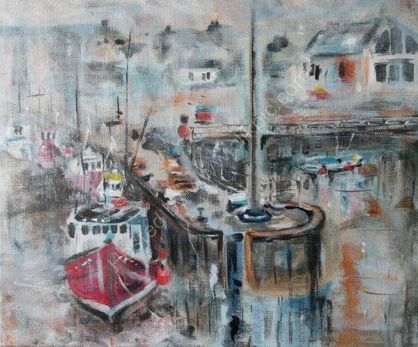 Fog at the Harbour  SOLD