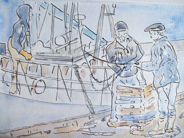 'Landing the Catch'  SOLD