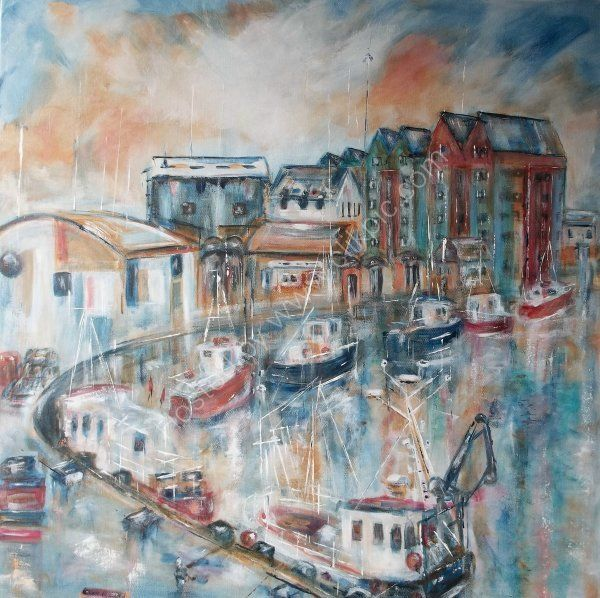 Harbour at Sunset (Venice of the north!)  SOLD