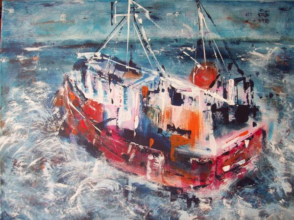 Towards the Harbour  SOLD