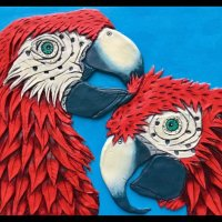PAPERCLAY MACAWS