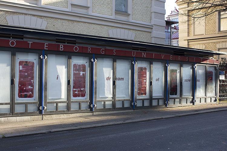 i dream of screens - installation view - Gothenburg, Sweden