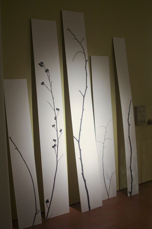 Large-scale installation in the museum. The tallest print is approx. 2.5 meters in height.