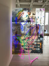 Untitled 2019 LED Neon flex light and film prints on clear Acrylic Plexiglass