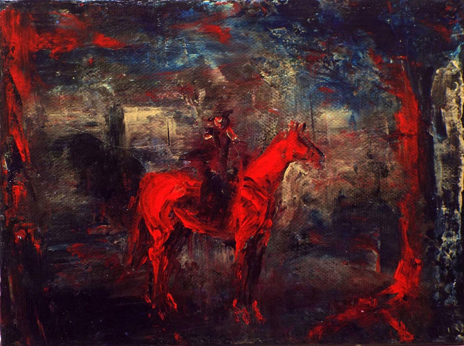 zechariah's red horse louise barrett painting