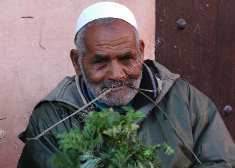 Street Merchant Selling Vegetables
