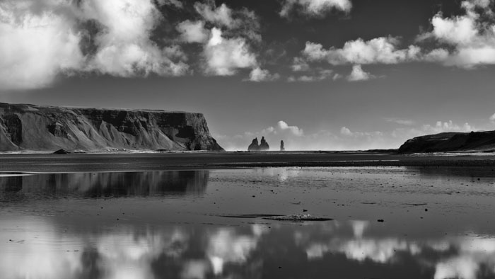 Reynisdrangar reflection