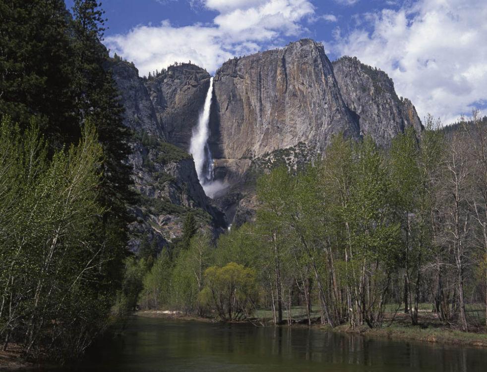 Yosemite Falls from Sentinel Bridge