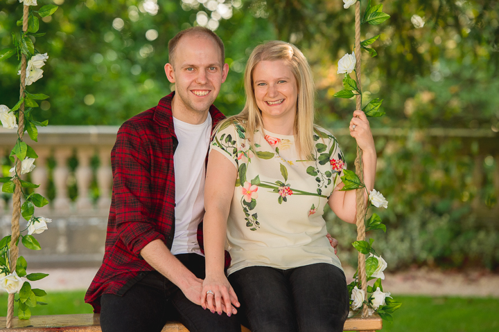 Engagement photos at Wood Norton Hotel in Evesham, Worcestershire.