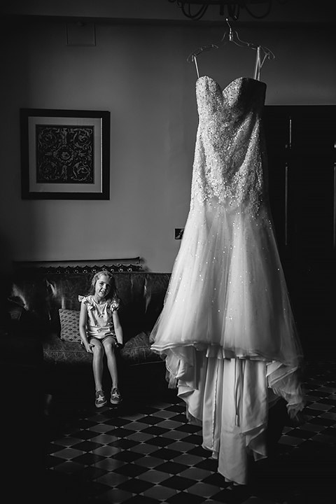 This striking black and white image was taken in the Board Room at Stanbrook Abbey. Candid wedding photography by Lee Webb