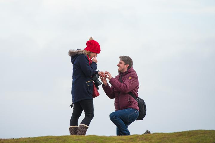 Malvern Hills Worcestershire engagement photo