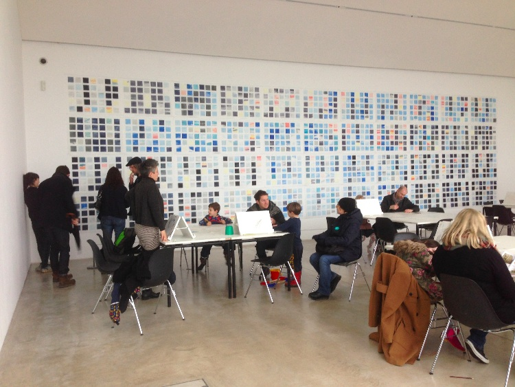 workshop taking place in the Clore Gallery
