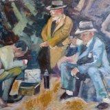 'Gentleman's tea party' 59cm x 42cm