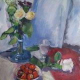 'Flowers with strawberry's ' 40cm x 50cm €450