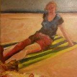 'Girl on the beach' 40cm x 50.5cm