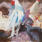 'Hens Marlay park' 31.5cm x 25.5cm SOLD