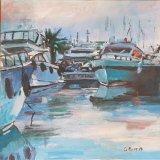 'Yachts at Antibes France' 40cm x 39.5cm