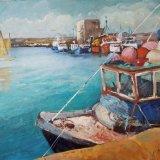 'Fishing boats at Dun Laoghaire Harbour Dublin' 50cm x 40cm