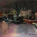 'Harbour scene' 50cm x 40cm SOLD